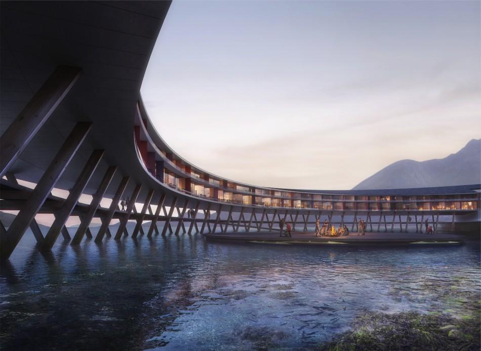 Das Svart Hotel in Norwegen produziert Strom in den Bergen
