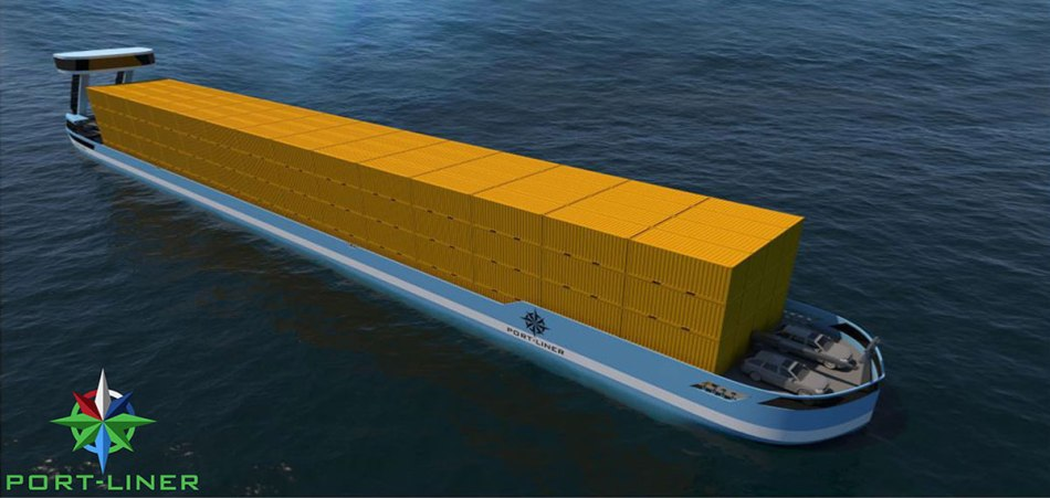 Port Liner Elektrischer Frachter