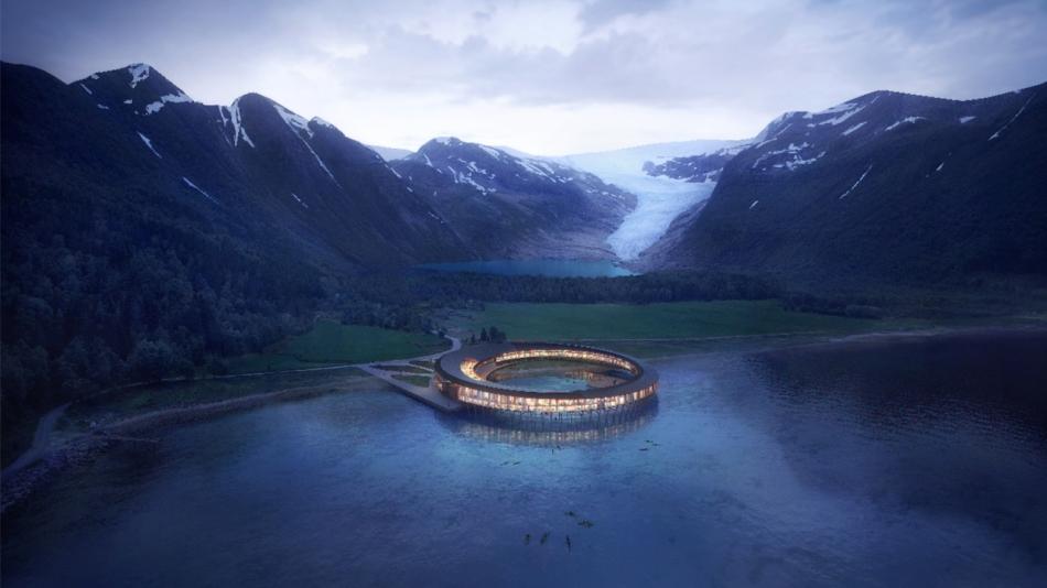 Snohetta Svart in Norwegen ist ein Hotel dass Energie erzeugt
