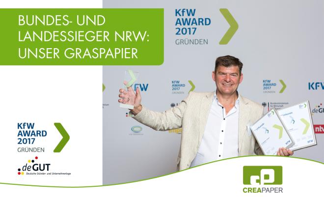 Creapaper gewinnt den KFW Award Graspapier