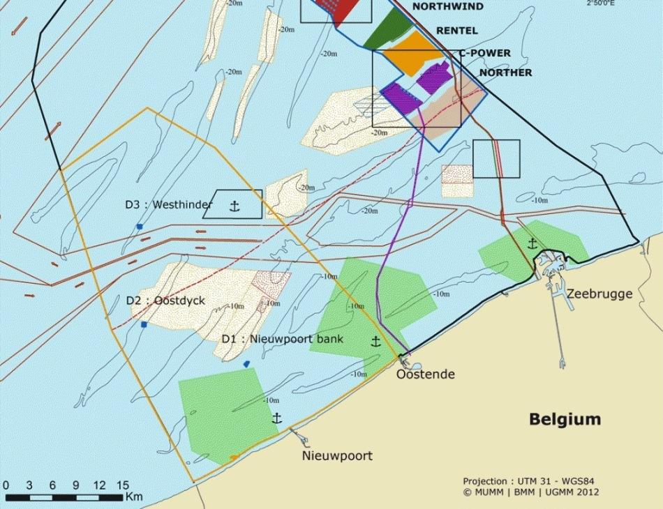 Offshore Wind Farm Norther vor Zeebrügge