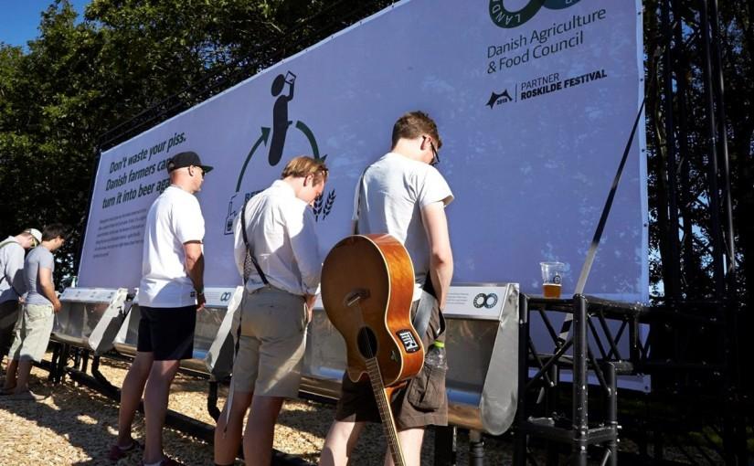 Auf Dänemarks größtem Musikfestival wird Urin eingesammelt, um Bierherzustellen